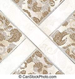 vector seamless paisley background with ribbons - eps 10...