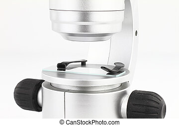 Close up of a microscope