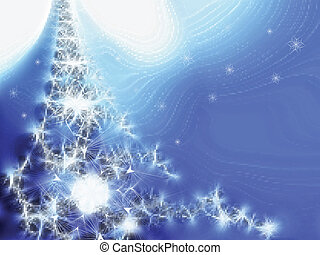 Winter fantasy - Winter background with snowflakes. Vector...