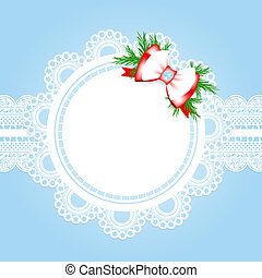 christmas lace frame - lace round frame with christmas...
