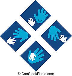 Child\'s Hands and Adult Hands - Child's Hands and Adult...