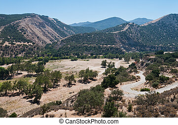 Arroyo Seco river gorge near Greenfield, California