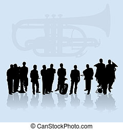 Brass Band Silhouettes Set