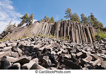 Devils Postpile National Monument, Mammoth Lakes, California