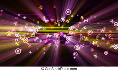 loop background flying circles - loopable background flying...