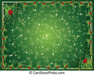 holly berry christmas card