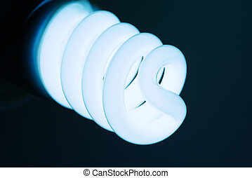 Compact fluorescent light bulb.