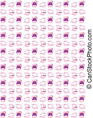 Gossiping Mouths Background Illustration - An illustrated...