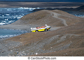amphibious vehicle in Iceland - amphibious vehicle just...