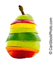 Pear Mixed Fruit - A concept photo of a mixed-fruit pear...