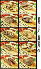 Roasted meat collection - Collection of fresh roasted meat