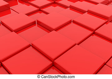 Red cubes