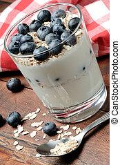 yogur, Arándanos