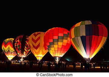 Balloons - Hot air balloons at the Great Reno Balloon Race,...