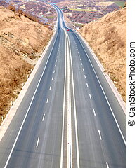 Highway road - A long straight highway road