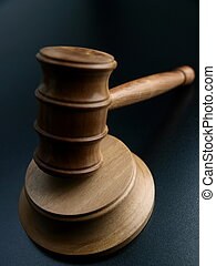 Judge?s, Gavel, sobre, pretas, fundo