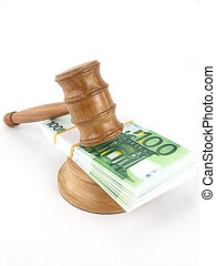 Auction gavel and euro  - Auction gavel and money euro