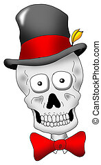 Dapper Skull - A very dapper looking skull with hat and tie.