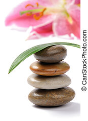 Stacked spa stones