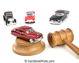 Gavel auction and cars  - Gavel auction with antiques cars