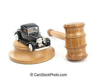 Gavel auction and car