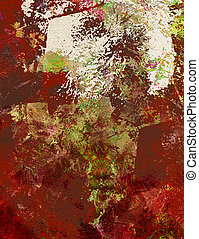 paint textures on canvas structure - mixed media