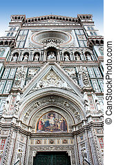 Fragment of cathedral in Florence, Italy