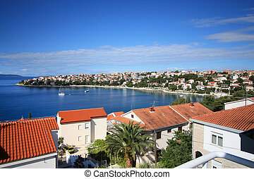 Adria sea view - Adria sea summer view, Trogit, Croatia