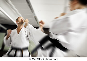 fight - An image of a man and a women fighting