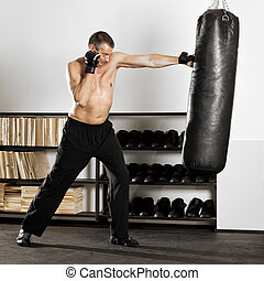 boxing - An image of a boxing man in the studio