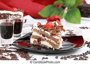 Black forest cake - Black Forest, a traditional German cake...