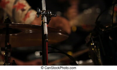 drum test - Close up of drums during a sound check