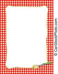 Fork Twirling Spaghetti Frame - Bright border of a fork...