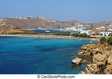 Coast of Mykonos, Greece.
