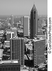 Black and White Atlanta - Atlanta cityscape in black and...