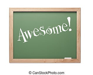 Awesome! Green Chalk Board Kudos Series on a White...