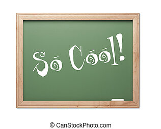 So Cool! Green Chalk Board Kudos Series on a White...