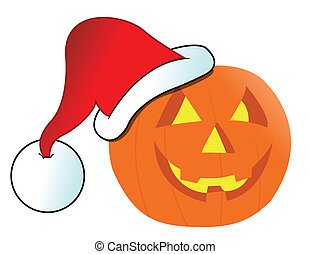 Christmas Jack-o-lantern illustration design