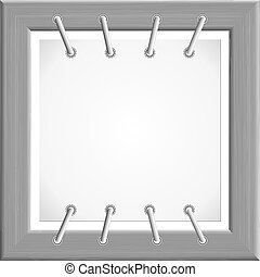 Vector image of the metal frame to the plate