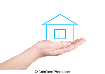 The house on a palm