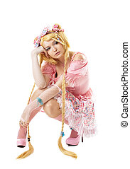 Beauty woman like lolita cosplay character - Beauty...