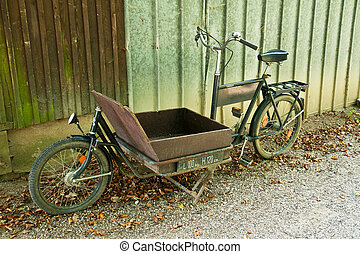 Traditional vintage carrier delivery bikes - Traditional old...
