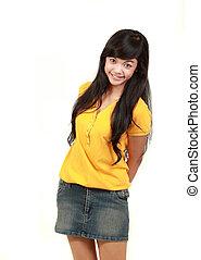 happy young teenage girl