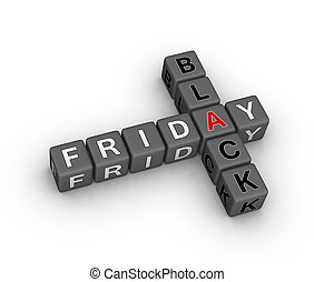 black friday 3d crossword puzzle design element for...