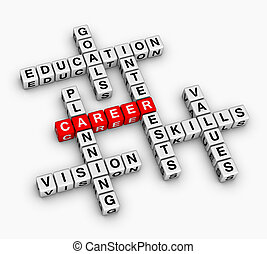 career crossword - career 3D crossword puzzle job search...