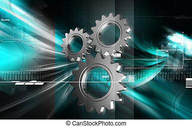Industrial symbol - Digital illustration of Industrial...