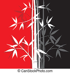 Bamboo abstract background, vector