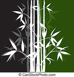 Bamboo background, vector - Bamboo abstract background,...