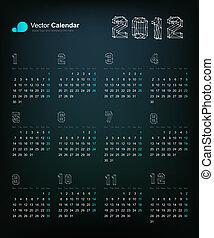 2012 Origami dragon calendar