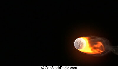 Golf ball on fire  - Golf ball on fire